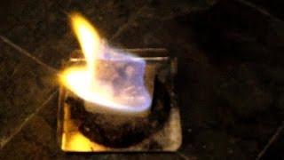 Lighting Esbit with a Light My Fire (firesteel) by FLAT CAT GEAR Thumbnail