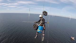 Rope Access on Wind turbines Climbing