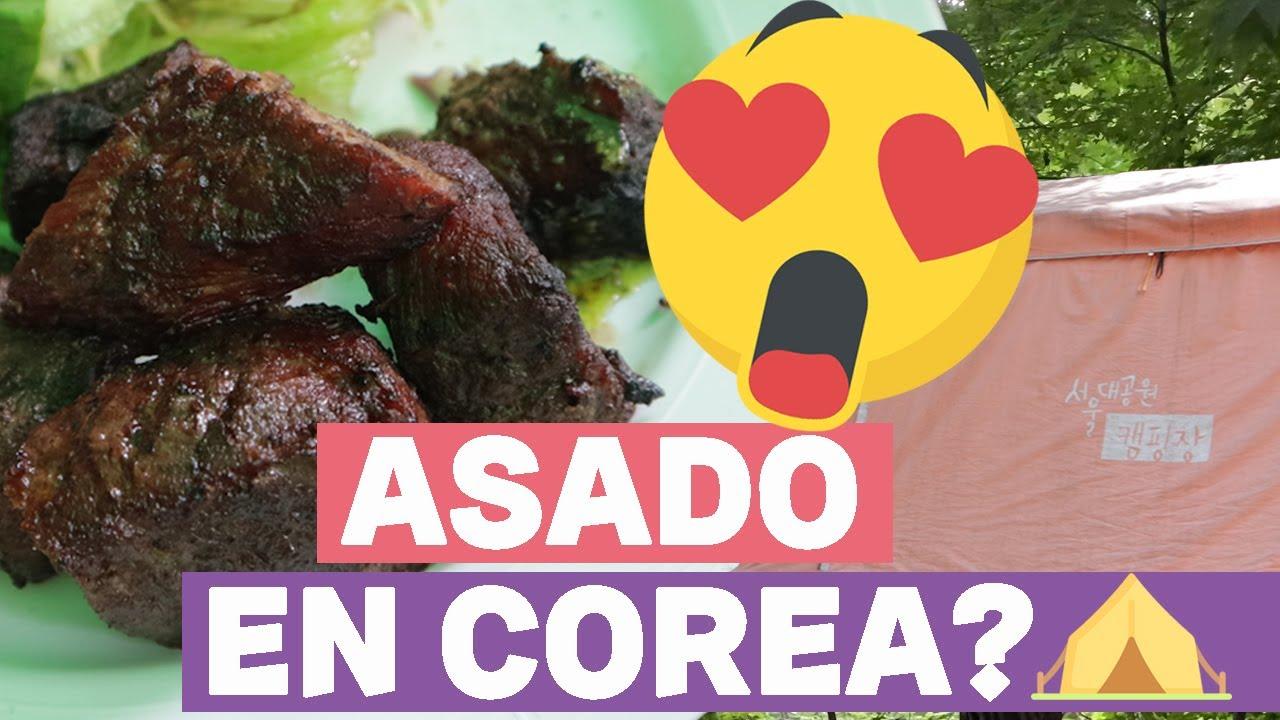 Intento un asado estilo argentino en Corea. Asado de tira coreano