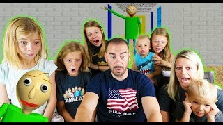 Baldi's Basics In Education And Learning Game Family of 8 FIRST TIME Playing!