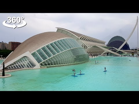 The City of Arts and Sciences, Valencia, VR 360 video