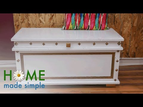 Turn An Old Chest Into A Multi-Purpose Filing Cabinet | Home Made Simple | Oprah Winfrey Network