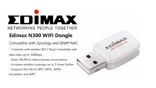 Edimax N300 WIFI Dongle for QNAP and Synology NAS