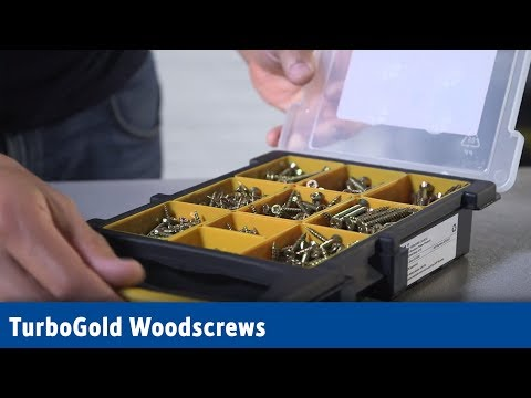 TURBOGOLD PZ DOUBLE SELF-COUNTERSUNK WOODSCREWS TRADE GRAB PACK 1000 PCS | Screwfix