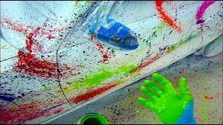Splatter Paint Art Car with Plasti Dip