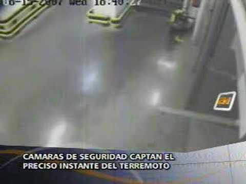 EARTHQUAKE TERREMOTO PERU 15/08/07 supermarket's cams