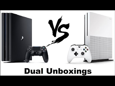 Ps4 Pro vs Xbox One S. Unboxings. The Good And The Bad! - YouTube