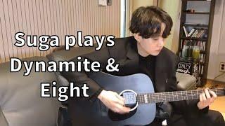 BTS SUGA 'Dynamite' & 'Eight' Guitar Cover!