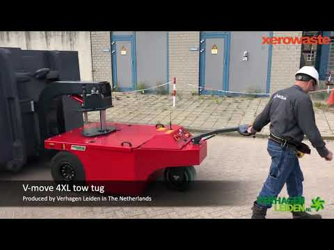 V-Move 4XL Industrial Load Mover - Most powerful battery-powered walk-along tug