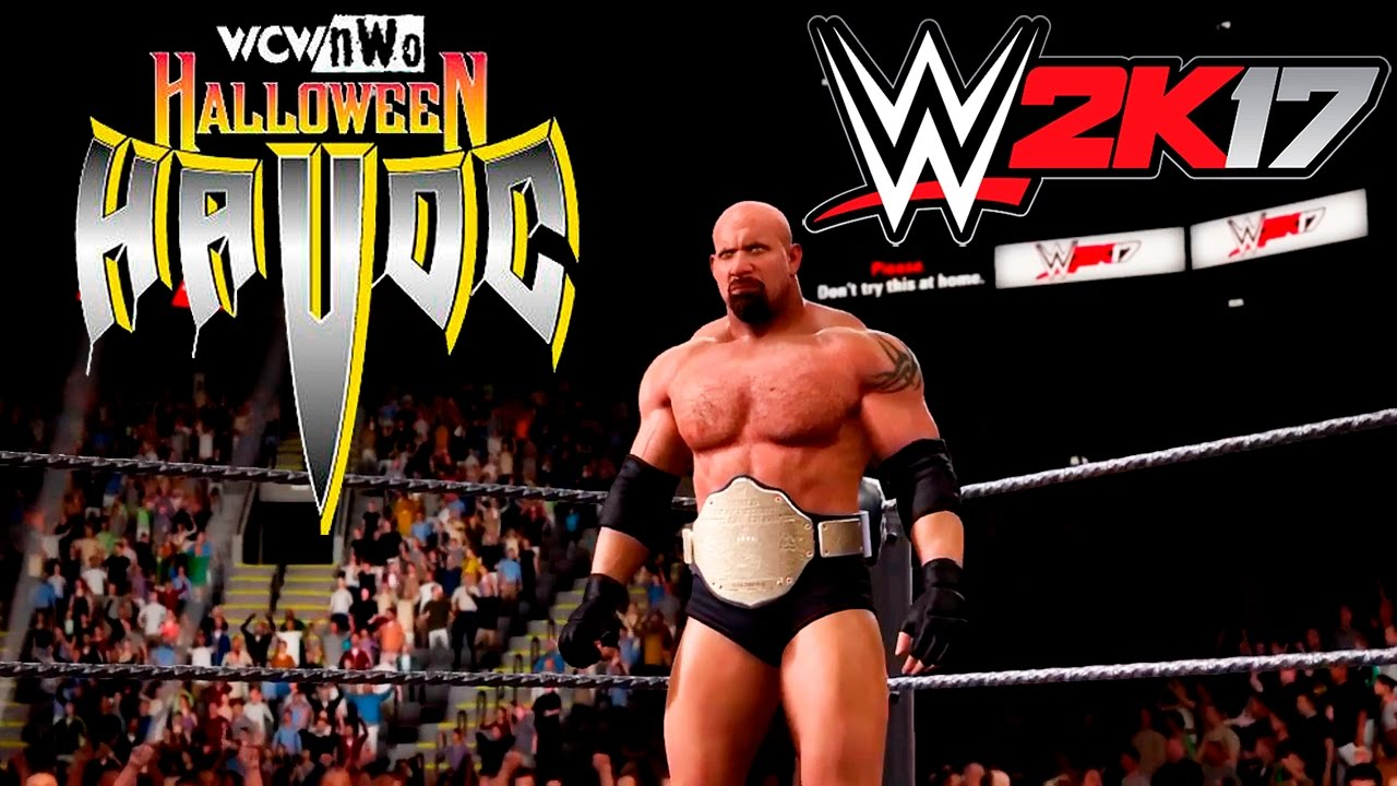 WWE 2K17-The best entrance of Goldberg (WCW Halloween Havoc 1998 ...