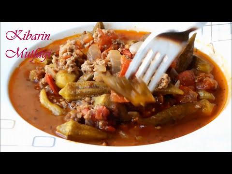 Kıymalı bamya yemeği tarifi - Bamya yemeği nasıl yapılır - Sulu yemek tarifleri - Kibarin mutfagi