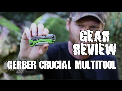 GEAR REVIEW: Gerber Crucial Multi-Tool - (A great hiking or Bug out bag knife & multitool)