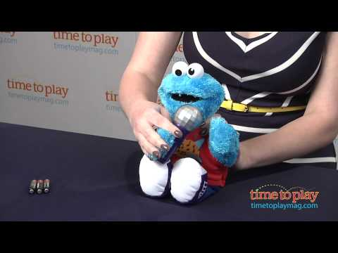 Lets Rock Singin Cookie Monster From Hasbro Youtube