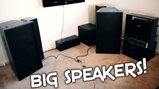 MINI EBAY AMP vs LARGE SPEAKERS