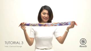 Tutorial: 2 Ways to Tie Nanette's Twilly as a Neck Scarf