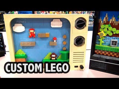 Mario & Sonic Retro TVs in LEGO | Bricks Cascade 2018
