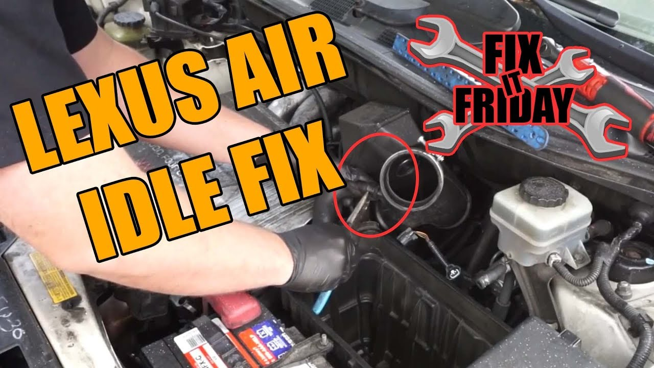 small resolution of  02 lexus rx300 stall after starting idle air control valve fix
