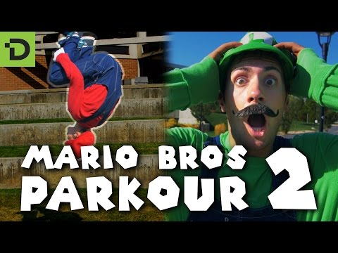 Super Mario Brothers Parkour 2 [In Real Life] - Mario Maker [4K]