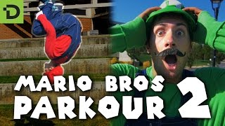 Super Mario Brothers Parkour 2 [In Real Life] - Mario Maker [4K] thumbnail