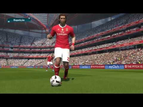 PES 2017: SL BENFICA - PSV (PC 1080p 60fps Stadium Ball Crowd Patches)