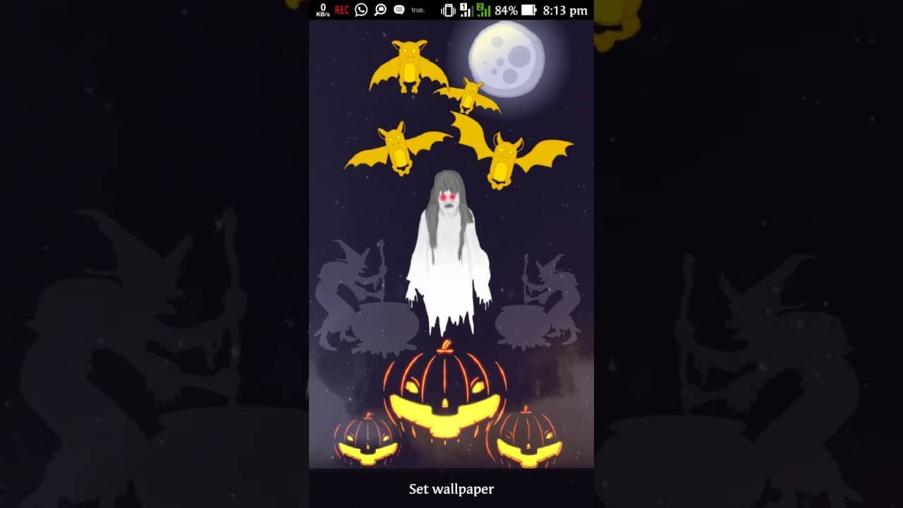 halloween ghost live wallpaper for android - youtube