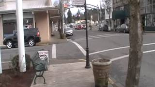 walking up and down main street in Cottage Grove Oregon