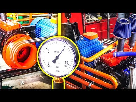 Making Air Compressor  From Car Engine  *Subtitles*