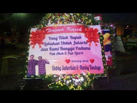 Tak Hanya Di Balaikota, Karangan Bunga Untuk Ahok Bertebaran di Kota Batam. Ini Isi Ucapannya