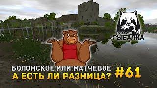 Русская рыбалка 4 #61 - Болонское или Матчевое. А есть ли разница?