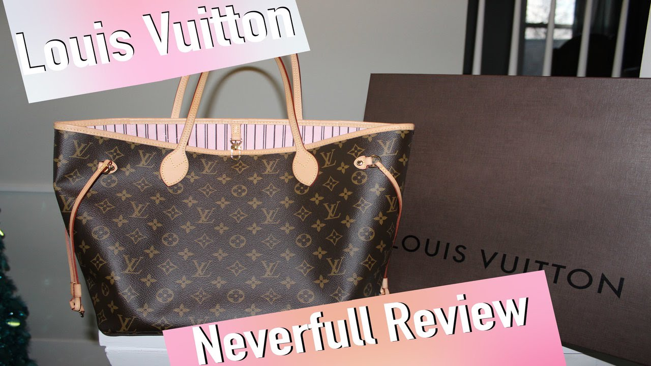 ed2dc52987bf Louis Vuitton Neverfull MM (Rose Ballerine) Review - YouTube