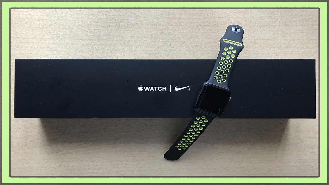 unboxing apple watch nike space gray black volt nike sport unboxing apple watch nike space gray black volt nike sport band