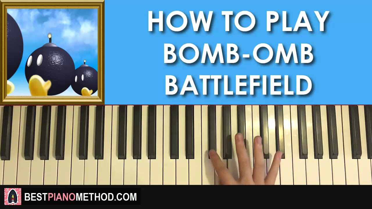 HOW TO PLAY - Bob-Omb Battlefield - Super Mario 64 (Piano Tutorial Lesson)
