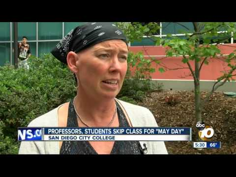 KGTV-SD: San Diego City College Professors, Students Skip Class for