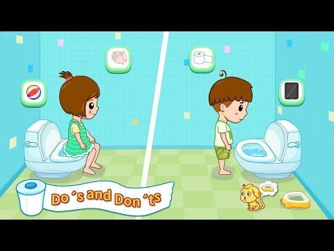 Hướng Dẫn Bé Đi Vệ Sinh | Baby Panda Toilet Training |