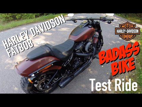 2018 Harley Davidson Fat Bob 114 Test Ride BadAss Bike!