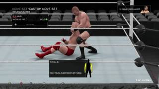 Shinsuke Nakarmura WWE 2K17 Move Set