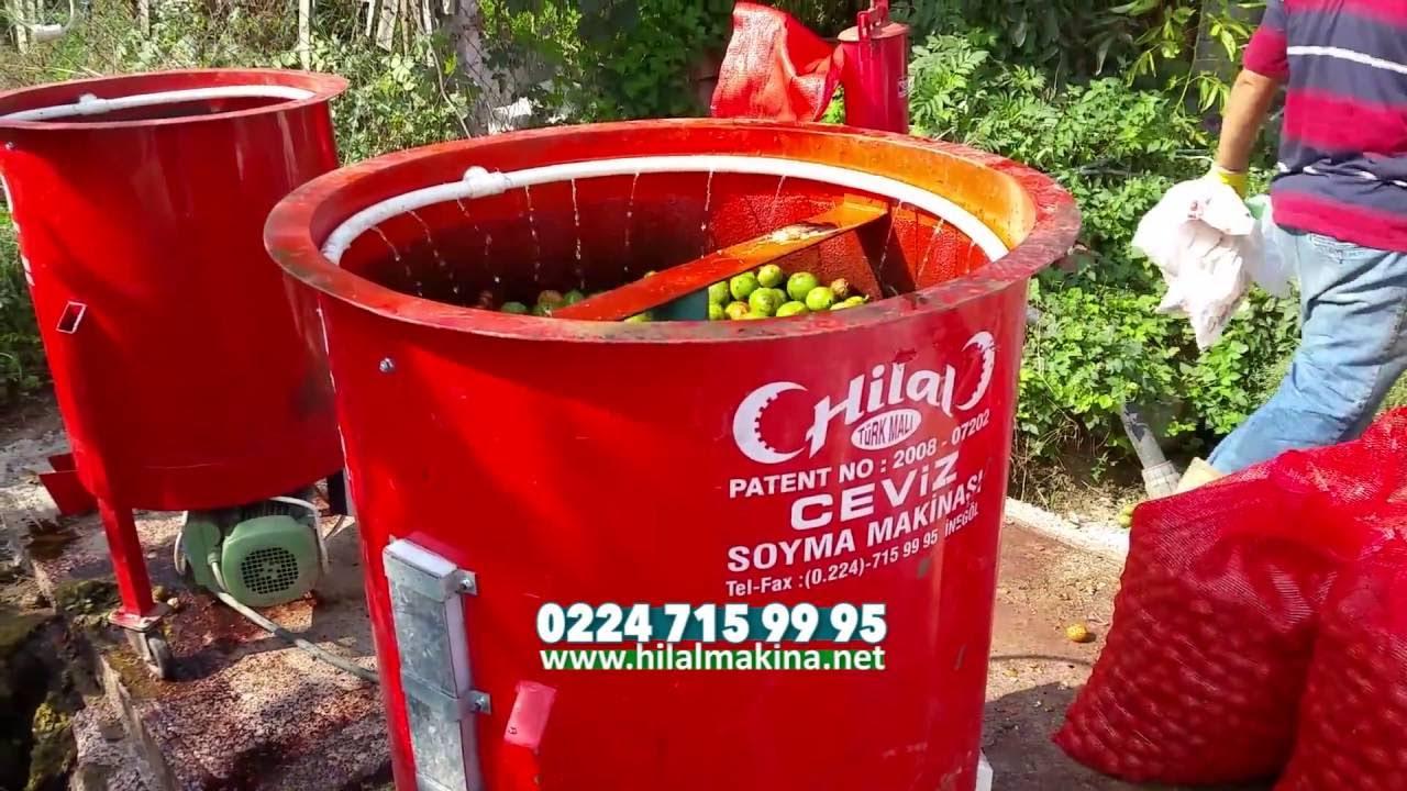 Hilal Ceviz Soyma Makinası - Walnut Harvest Machine