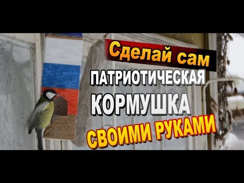 Как сделать патриотическую кормушку для птиц