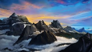 HOW TO PAINT a landscape in Photoshop | Digital Art Tutorial