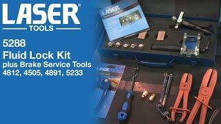 5288 | Laser Tools | Fluid Lock Kit plus Brake Service Tools | 4812, 4505, 4891, 5233,