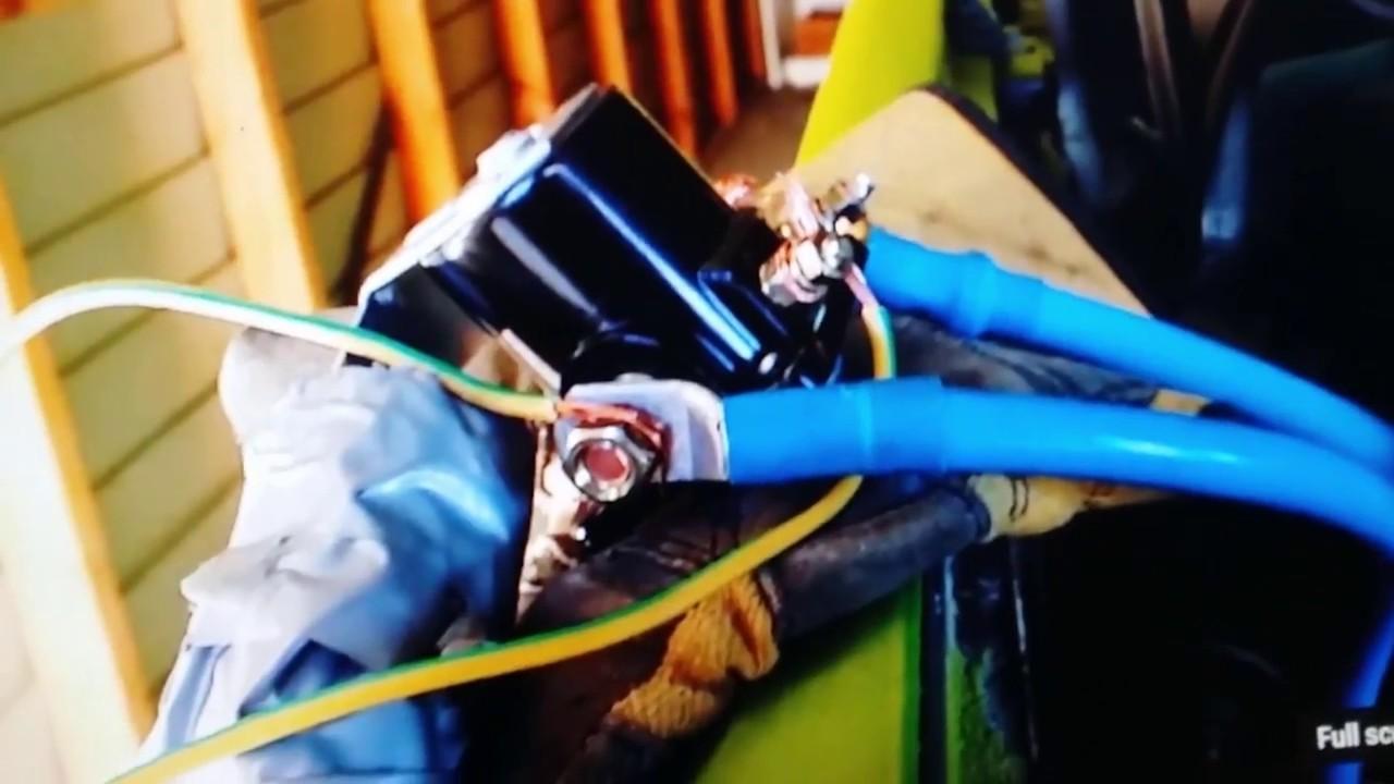 Chevy starter won't stop ( remote solenoid fix )