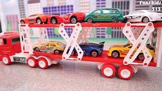 Car transporter for kids carrying toy cars I Mainan truk trailer mengangkut mobil untuk anak