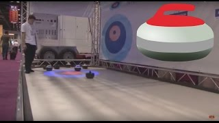 XTRA ICE Curling game at IAAPA 2016