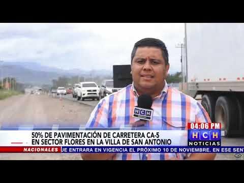 Pavimentación De Carretera CA-5 Pavimentada En Un 50% En El Sector De La Villa De San Antonio
