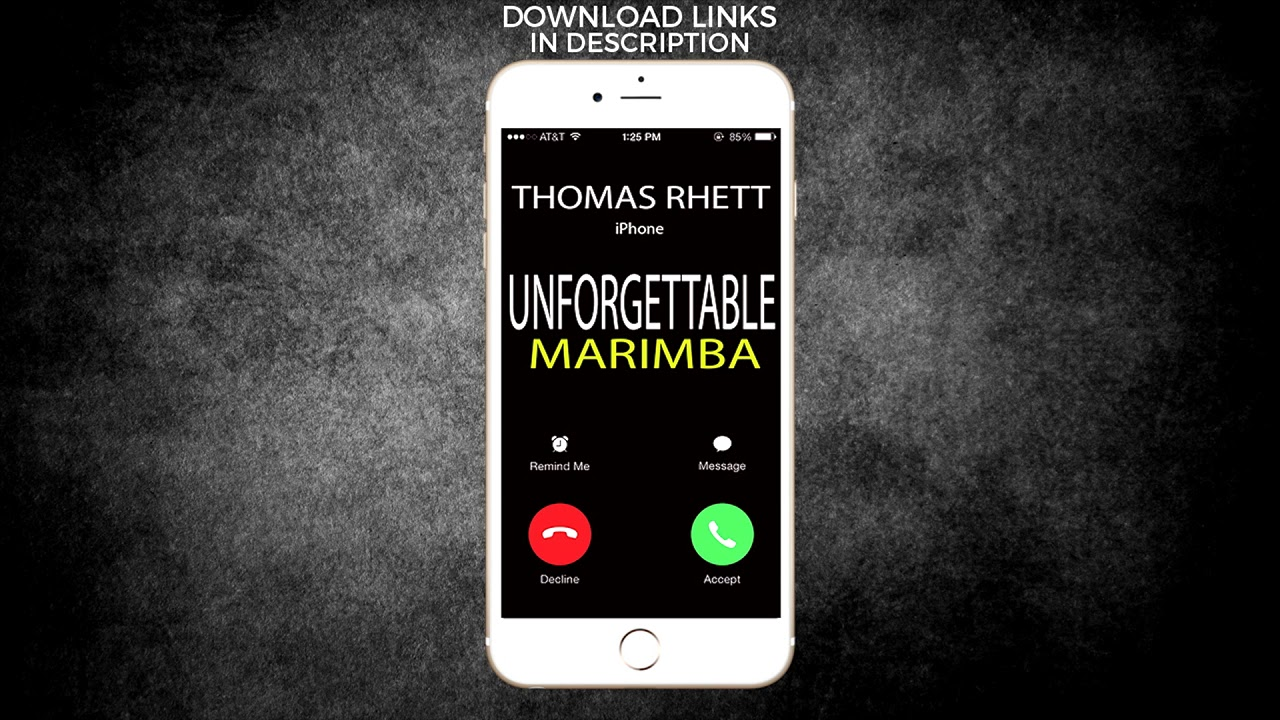 how to add ringtones to iphone iphone ringtone unforgettable marimba remix 3790