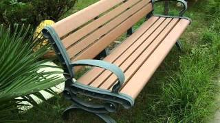 Replacement wood plastic for garden benches
