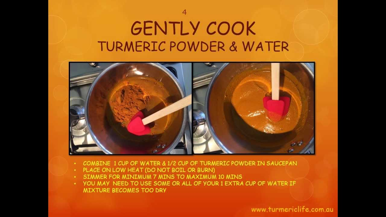 How to make Turmeric Golden Paste