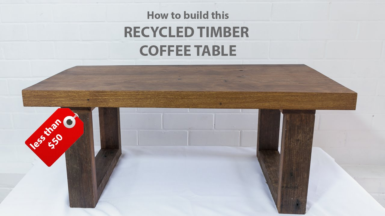 easy diy modern coffee table using reclaimed wood and basic tools