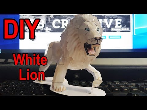 How to make White Lion | DIY Paper Craft