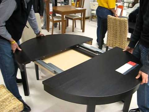 ikea table with hiden folding built in leaf